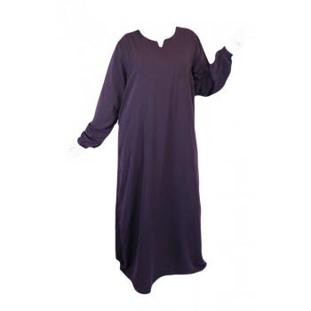 Robe Lila El Bassira - Arbaya Simple - Modèle HE WP - Tissus Wool Peach n°14 - Couleur Unis
