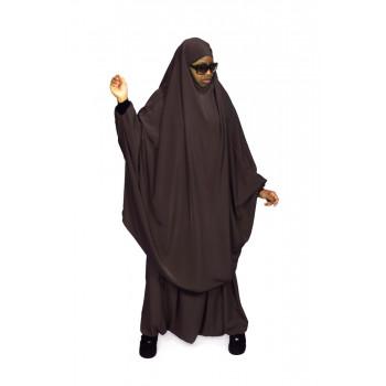 Jilbab Marron - 2P Cape+Sirwal - N08 - Jilbeb Al Manassik