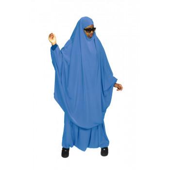 Jilbab Bleu Pétrole - 2P Cape + Sirwal - N20 - Jilbeb Al Manassik