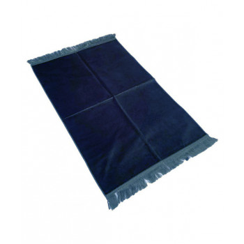 Tapis de Prière de Luxe - Couleur Gris Pétrole Unis - Adulte - 73 x 110 cm