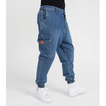 Saroual Coupe Pantalon Jeans Cargo Blue Light - DC Jeans