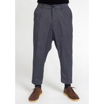 Saroual Coupe Pantalon Pince Wool Bleu Chiné - DC Jeans