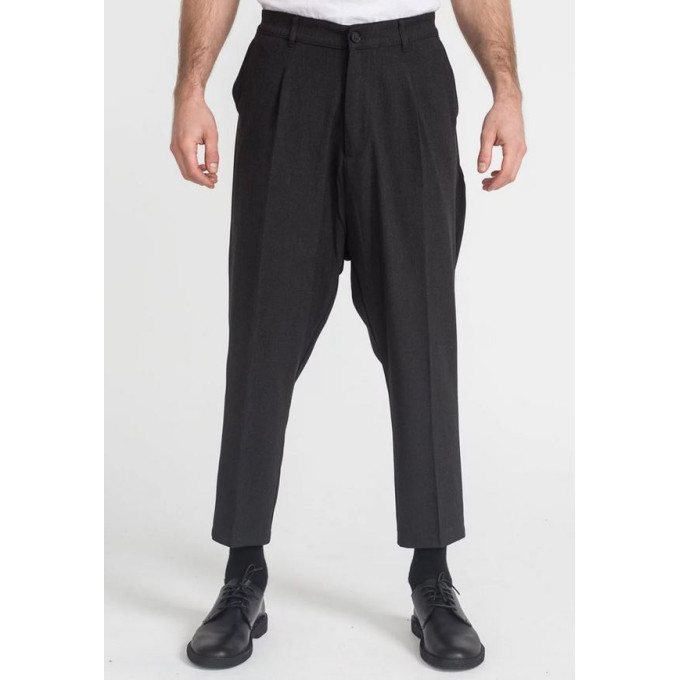 Saroual Coupe Pantalon Pince Wool Noir Chiné - DC Jeans