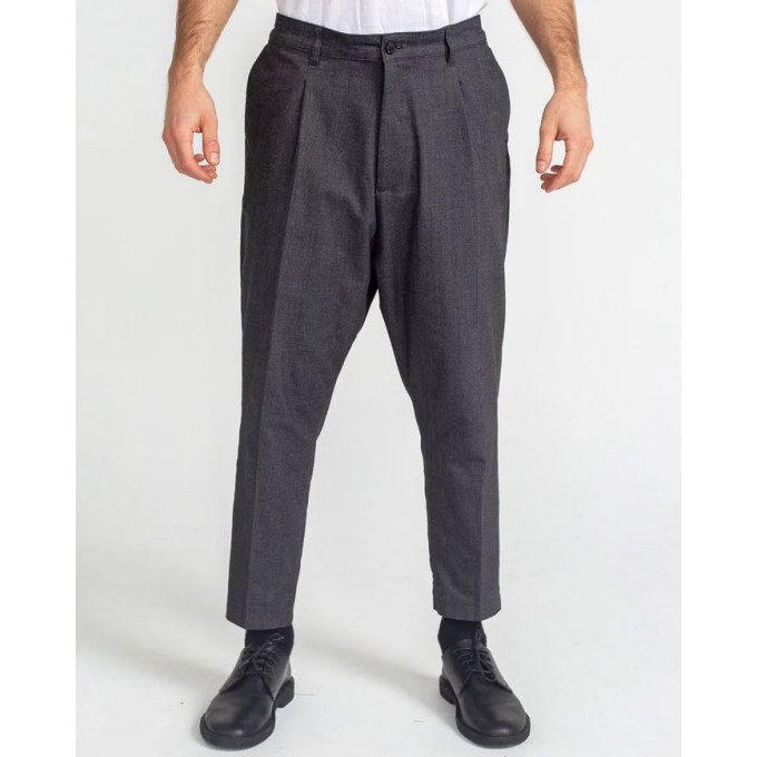 Saroual Coupe Pantalon Pince Wool Anthracite Chiné - DC Jeans