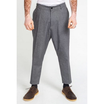 Saroual Coupe Pantalon Pince Wool Gris Chiné - DC Jeans