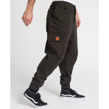 Saroual Coupe Pantalon Cargo Basic Kaki Ripstop - DC Jeans