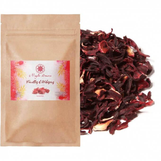 Fleurs d'Hibiscus - Nigelle Source - 100 gr