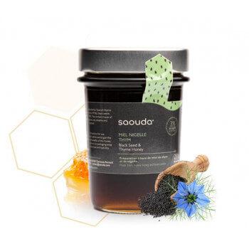 Miel de Thym à la Nigelle (Obtenue par Cryobroyage) - Saouda 250 gr