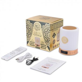 Veilleuse Coranique MP3 - Affichage Digital, Horloge Azan, Lecteur Coran, Bluetooth et Télécommande - MQ-522A