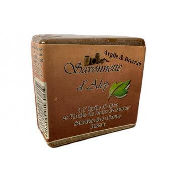 Savonnette d'Alep - Argile et Dreerah - Huile d'Olive et Huile de Baies de Laurier - 100 gr