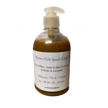 Savon Noir Liquide d'Alep à la Lavande - 100% Naturel et Biodégradable - 500 ml