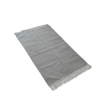 Tapis de Prière de Luxe - Couleur Gris Clair Unis - Adulte - 73 x 110 cm