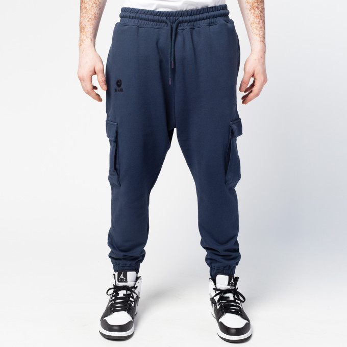 Sarouel Pantalon Jogging Pocket Bleu Marine - DC Jeans