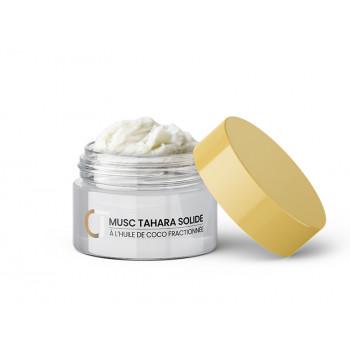 Musc Tahara Solide - Musc Blanc Concentré - À l'Huile de Coco et Cire d'Abeille - Pot 15g - Crème Tahara