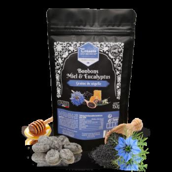 Bonbons aux Miel Eucaliptus et à la Graine de Nigelle - Habba Sawda - Sachet - 150gr - Maison Crétet