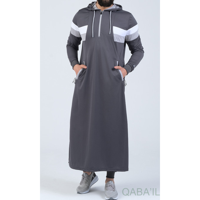 Qamis Capuche Anthracite Qaba'il : Trial