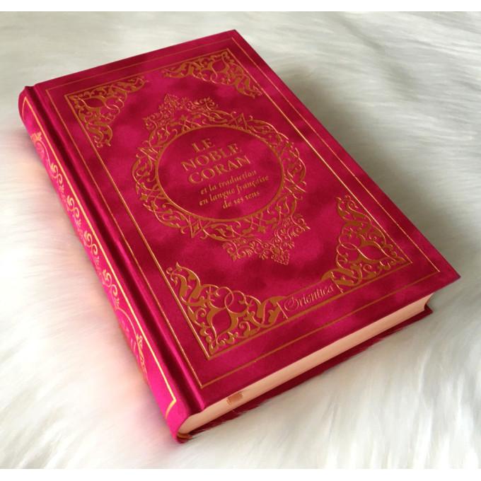 Le Noble Coran Rouge Doré - Edition de Luxe Couverture Daim - Index des Sourates - Français-Arabe - Orientica