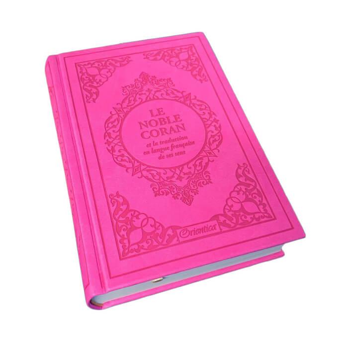 Le Noble Coran Daim Rose - Edition de Luxe Couverture Daim - Index des Sourates - Français-Arabe - Orientica