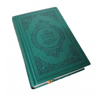 Le Noble Coran Vert - Edition de Luxe Couverture Daim - Index des Sourates - Français-Arabe - Orientica
