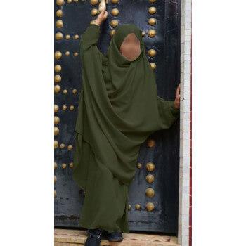 Jilbab Enfant - Kaki Foncé - Safwa