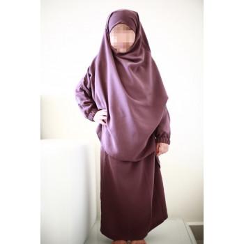 Jilbab Enfant - Mauve - Safwa