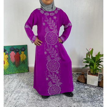 Abaya Fille Dubai Enfant - Fushia