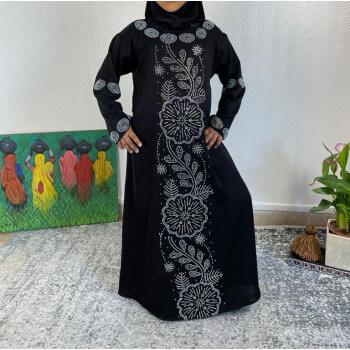 Abaya Fille Dubai Enfant - Noir