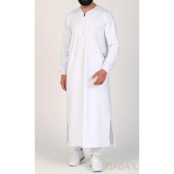 Qamis Long - Blanc - Qaba'il : Jersey