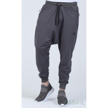 Sarouel Jogging - Tissu Léger - Coupe Semi Droite - Anthracite Qaba'il : Sarouel Léger CSD