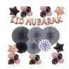 Banderole Rose EID MUBARAK + 20 Ballons et 4 Etoiles + 6 Rosasse - Mooslim Toys