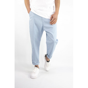 Pantalon Homme 7/8ème - Saroual D1 RAM Bleu Ciel - Coupe Djazairi - Timssan