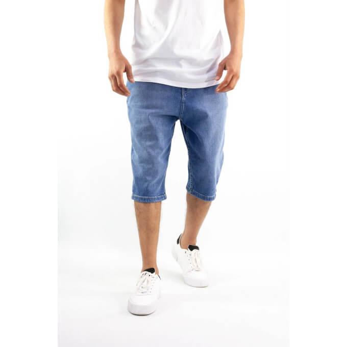 Saroual Bermuda - Short Jeans - Coupe Djazairi - Bleu - Timssan