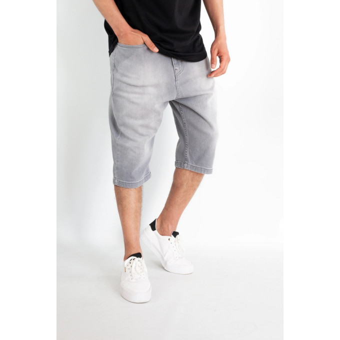 Saroual Bermuda - Short Jeans - Coupe Djazairi - Gris - Timssan
