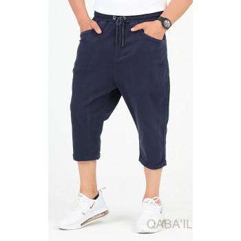 Sarouel Bermuda - Bleu Nuit - Coton Stetch - Qaba'il