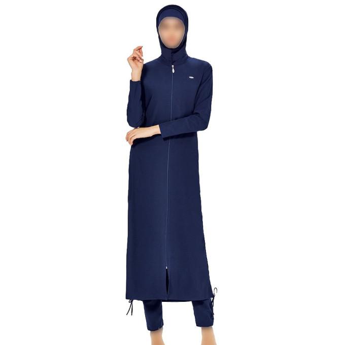 Maxi Burkini - Bleu Nuit - Façon Abaya - Plage et Sport