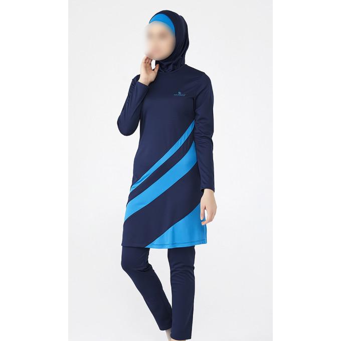 Burkini Bicolores - Bleu - Plage et Sport