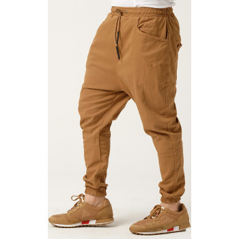 Sarouel Coton Stretch - Camel - Qaba'il : Coupe Djazairi  - Pants Léger