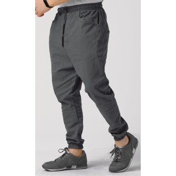 Sarouel Coton Stretch (Taille Petit) - Anthracite - Qaba'il : Coupe Djazairi - Pants Léger