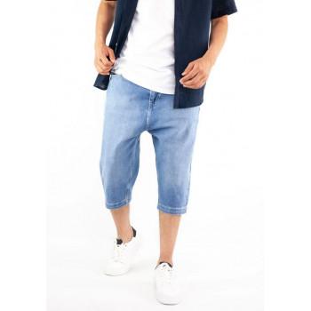 Saroual Bermuda - Jeans Long - Coupe Djazairi - Bleu - Timssan