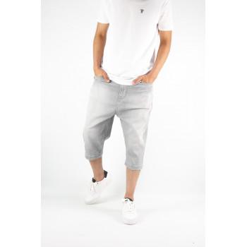 Saroual Bermuda - Jeans Long - Coupe Djazairi - Gris - Timssan
