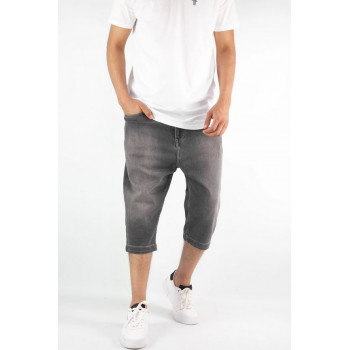 Saroual Bermuda - Jeans Long - Coupe Djazairi - Noir - Timssan