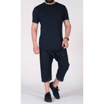 Sarouel et T-shirt bleu nuit, ensemble Qaba'il : Nautik New 2021