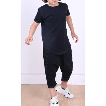 Ensemble Nautik Kid - Noir - Sarouel + T-Shirt de 3 à 16 ans - Qaba'il