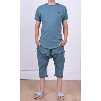 Ensemble Nautik Kid - Vert Amande - Sarouel + T-Shirt de 3 à 16 ans - Qaba'il