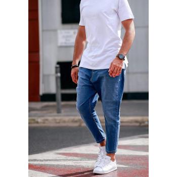 Pantalon Homme 7/8ème - Saroual D1 NIL Jeans Stone - Coupe Djazairi - Timssan
