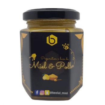 Miel et Pollen et Citron de Sicil - Miel 100% Naturel de France - 240 gr - Beelal