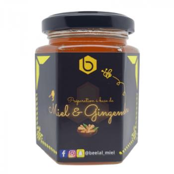 Miel et Gingembre - Miel 100% Naturel de France - 240 gr - Beelal