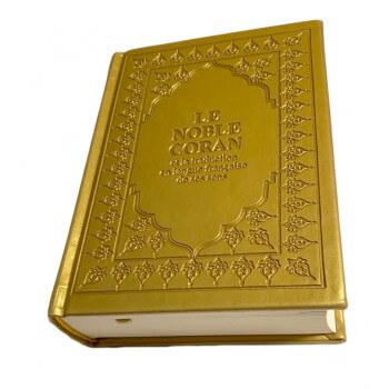 Le Saint Coran - Arabe et Français - Doré - Format de Poche 13 x 17 cm - Simili-Daim