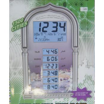 Horloge avec Azan et Horaires Prière - 1500 villes et 7 Adhân Différents - 338