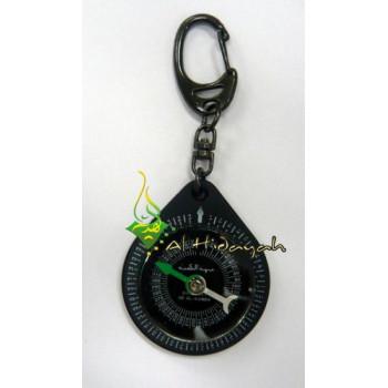 Boussole Noir Qibla Porte-Clés